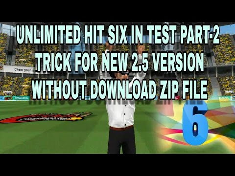 WCC2 UNLIMITED HIT SIX IN TEST PART-2    without download zip file    trick for 2.5 version