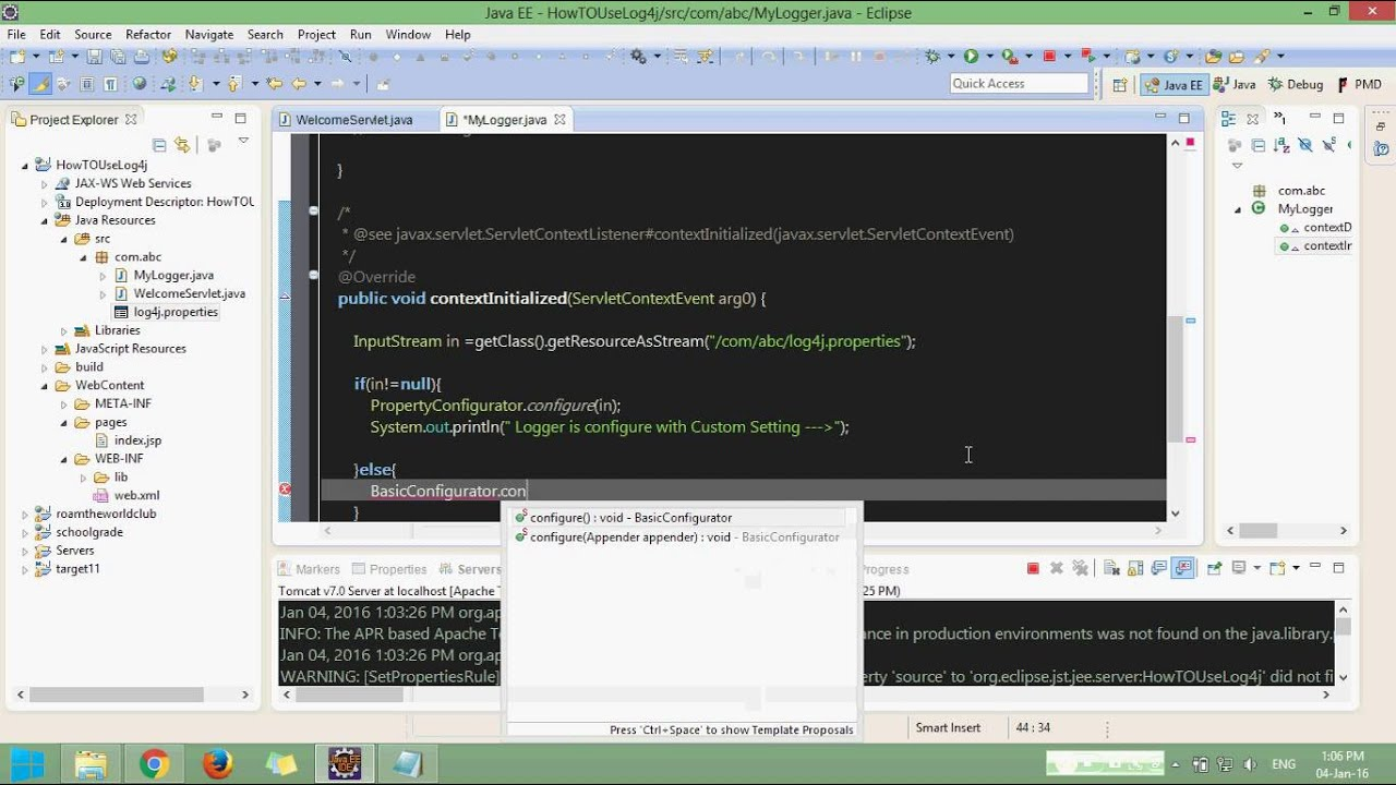 How to use log4j in java web app youtube how to use log4j in java web app baditri Image collections