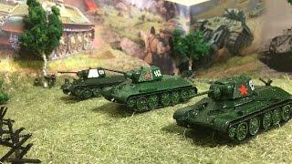 Курская битва макет с моделями танков и солдатами