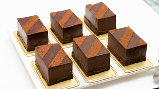CHOCOLATE MOUSSE PASTRY l EGGLESS & WITHOUT OVEN