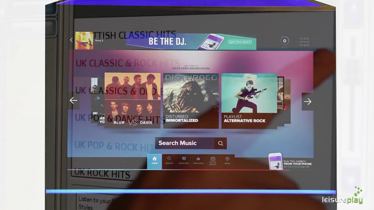 TouchTunes Playdium Digital Jukebox Demonstration Video