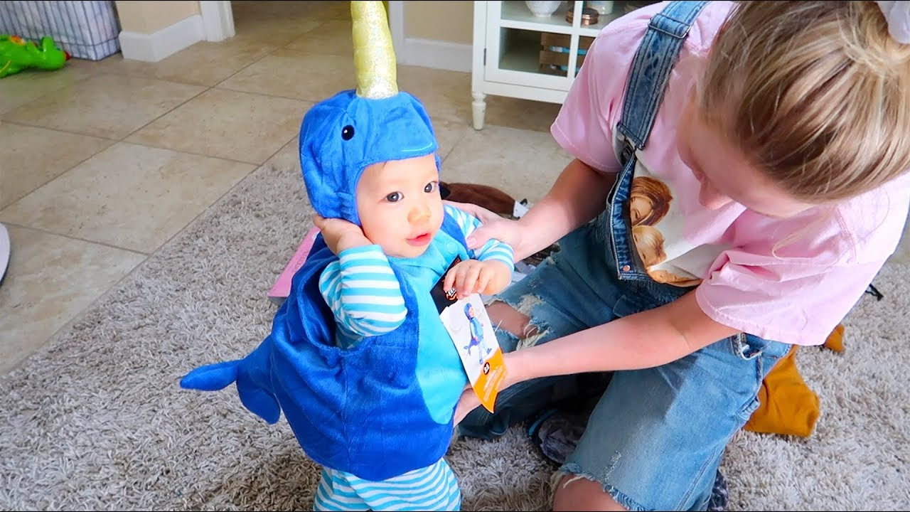 baby's first halloween costume - youtube