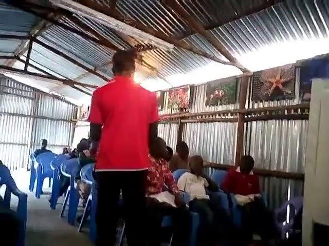 Peter Teaching the Children Kibera Slum Kenya