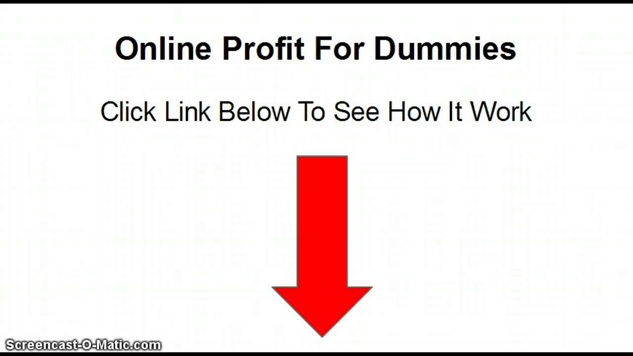 is online profit for dummies legit