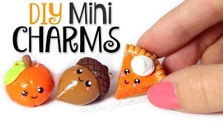 DIY POLYMER CLAY MINI CHARMS for FALL - How To   SoCraftastic