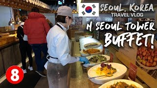 Seoul, Korea Travel Vlog 08: N Seoul Tower Lunch Buffet!