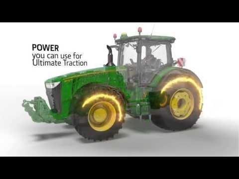 John Deere 7R 8R Ukupna efikasnost traktora