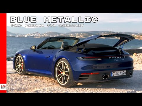 2020 Porsche 992 911 Carrera 4S Cabriolet - Blue Metallic