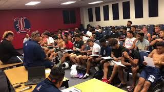 Liberty football team learns the Haka