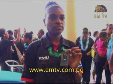 PNG U18 Women's Basketball Team arrive back home