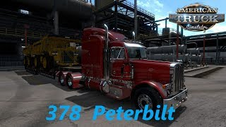 American Truck Simulator 378 Pete Hauling TWO Caterpillar Dump Trucks