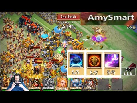 JT's Main Guild Wars VS Silent Knights 3606 Total Score Castle Clash