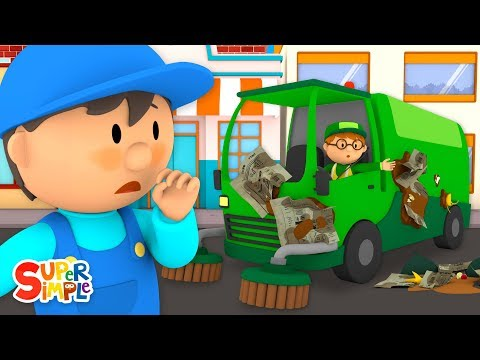 Steve's Street Sweeper Needs A Good Wash | Carl's Car Wash | Cartoons For Kids