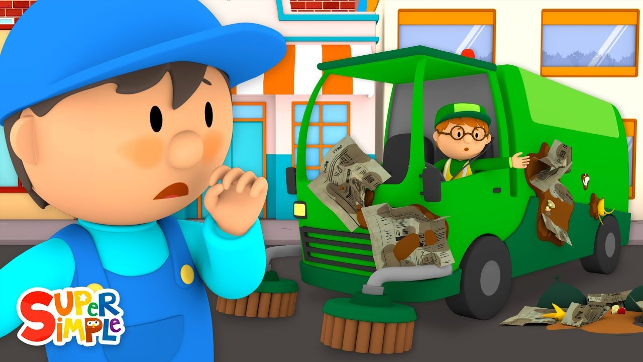 Steves Street Sweeper Needs a Good Wash | Carls Car Wash | Cartoons For Kids