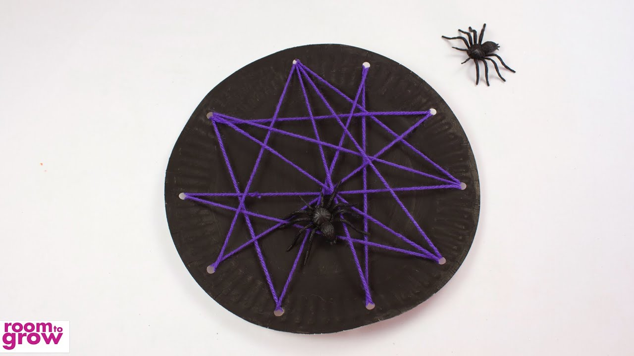 Paper Plate Spider Web & Paper Plate Spider Web - YouTube