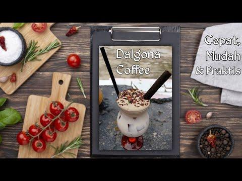 Cara membuat Dalgona Coffee tanpa mixer minuman #viral ...