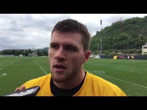 Steelers T.J. Watt after his 2nd rookie camp practice