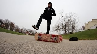The Coolest Way To Get On Your Skateboard!