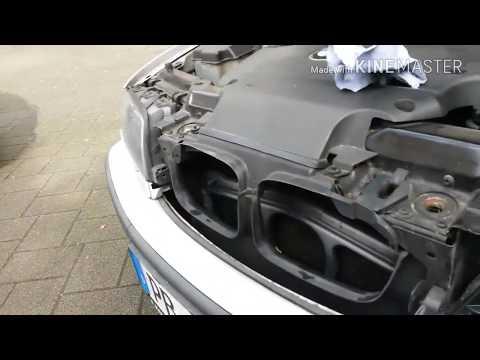 Как снять стекло с фары БМВ е46 320D и поворотник, простой и быстрый способ снятия