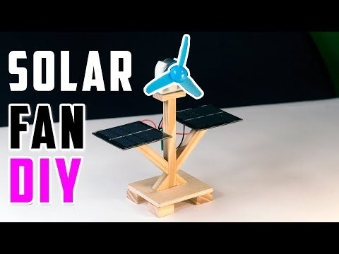 Free Solar Energy Fan School Science Project - DIY Project