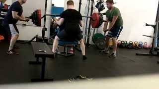 Reagan - 400lb Safety Box Squat PR