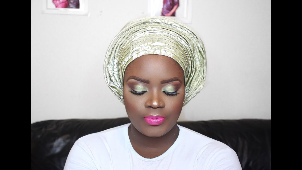 HOW TO: GRWM | Nigerian Wedding Makeup and Gele Edition| Giveaway ...