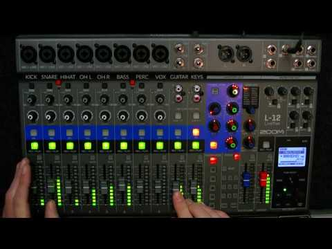 Zoom LiveTrak L‑12 | Mixing pop/rock song