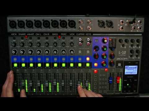 Zoom LiveTrak L‑12 | Mixing pop/rock song