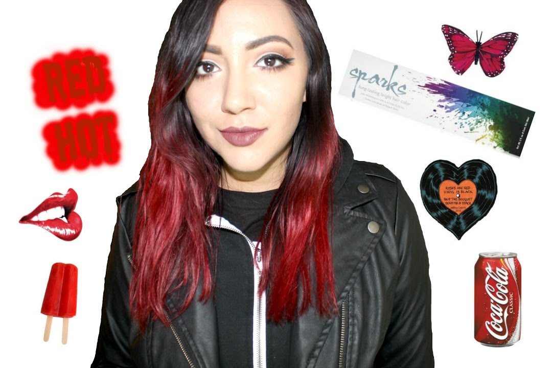 Dying My Hair With Sparks Hair Color In Red Hot Youtube