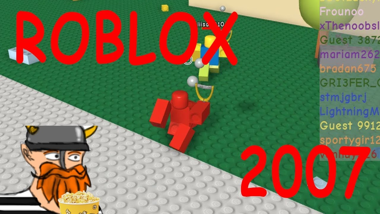 Roblox In The Old Days 2007 - old roblox 2007 gameplay