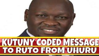 Joshua Kutuny Coded Message to William Ruto from Uhuru Kenyatta