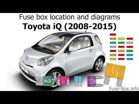 [SCHEMATICS_48ZD]  Fuse box location and diagrams: Toyota iQ (2008-2015) - YouTube   Toyota Iq Fuse Box      YouTube