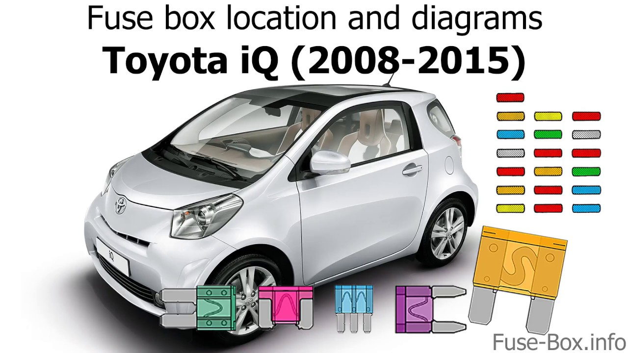 fuse box location and diagrams toyota iq 2008 2015  [ 1280 x 720 Pixel ]