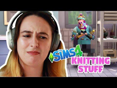 SIMS 4 NIFTY KNITTING STUFF: Stuff Pack Trailer Reaction |
