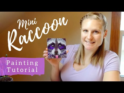 PAINTING A Raccoon For Beginners In 30-minutes | Art Therapy