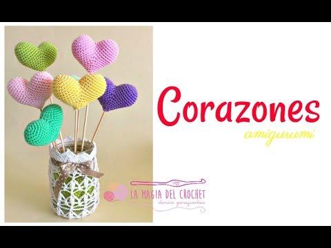 Cómo Hacer Corazones/hearts A Crochet En La Técnica Del