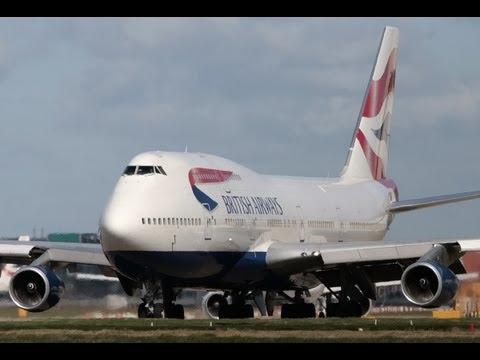 Decolagem Viracopos British Airways 747-400 HD