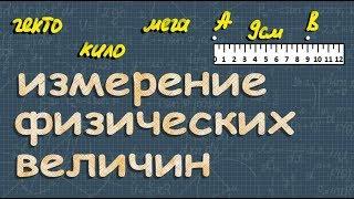 физика ИЗМЕРЕНИЕ ФИЗИЧЕСКИХ ВЕЛИЧИН 7 класс