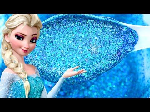 Diy How To Make Frozen Elsa Super Sparkle Glitter Slime Youtube