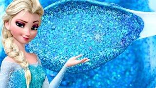 DIY How To Make Frozen Elsa Super Sparkle Glitter Slime