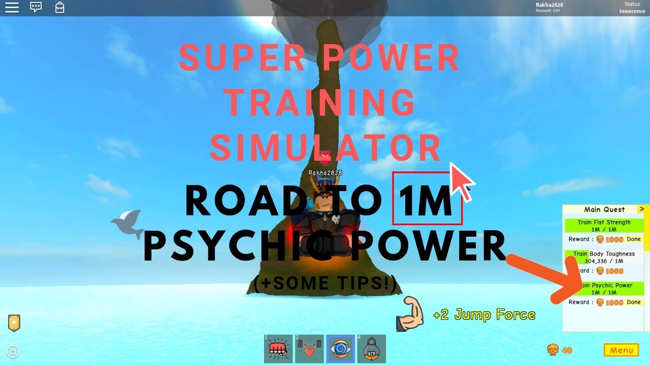 ROAD TO *1M* PSYCHIC! (AND SOME TIPS!) | Roblox Super Power Training  Simulator