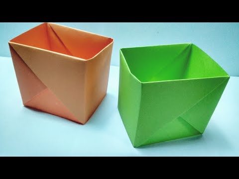 How to make Strong Paper Box Without Glue || Easy Paper Crafts || Origami Tutorial step by step
