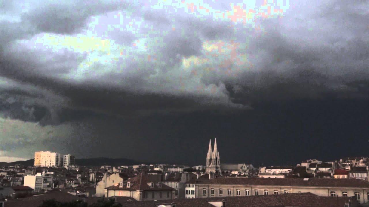 Timelapse d 39 un orage sur marseille au coucher du soleil youtube - Coucher du soleil marseille ...