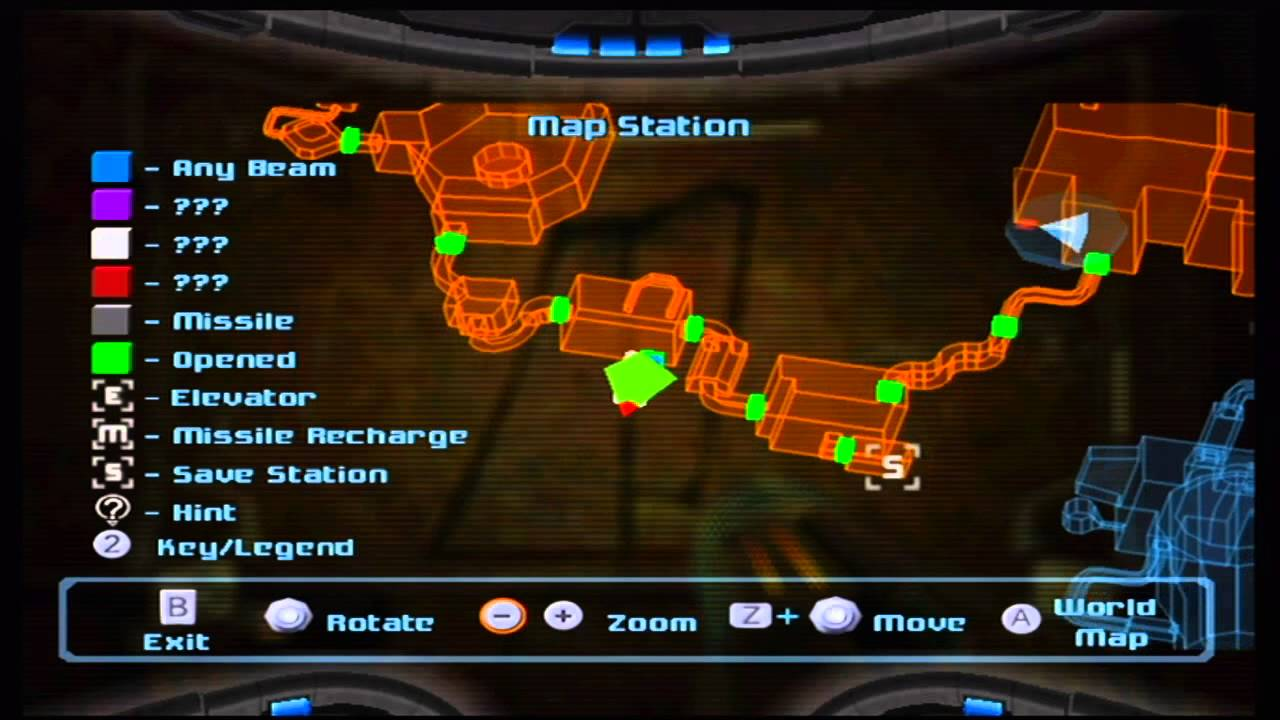 Image result for metroid prime map screen