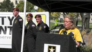 Lt. Governor Prettner Solon Tandem Skydives in Support of Our Troops