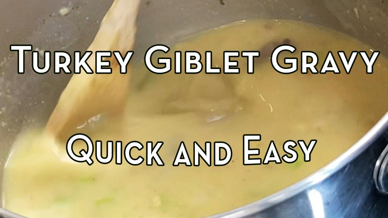 Quick and Easy Turkey Giblet Gravy