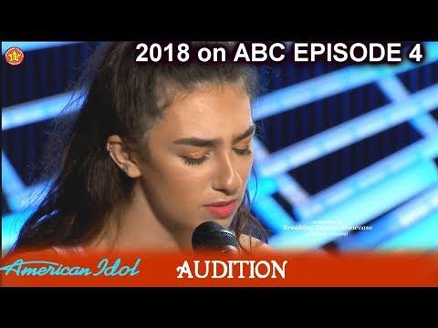 Genavieve Linkowski  IMPRESSIVE MAGICAL I Won't Give on Us Audition American Idol 2018 Episode 4