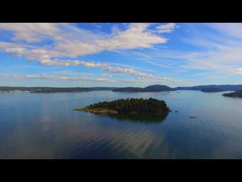 Drone flight over Sætre and the Oslofjord