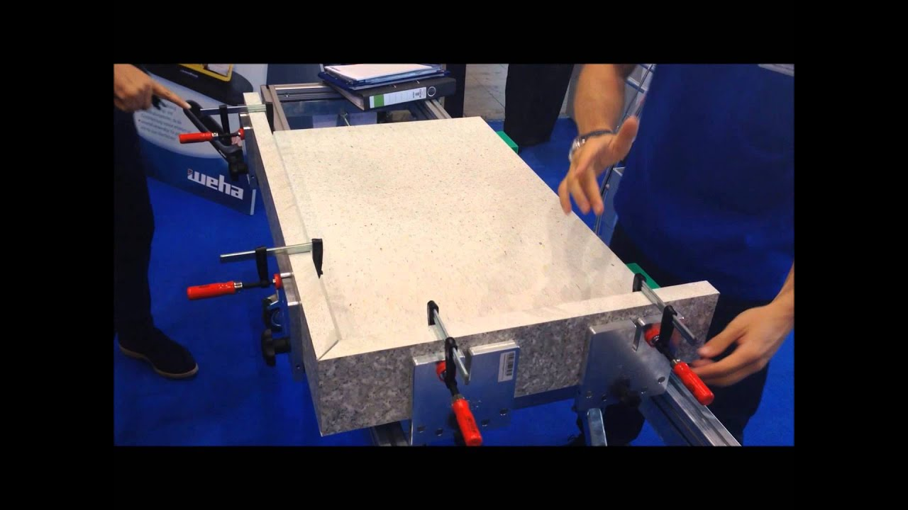 Granite Miter Clamp System Push N Glue by Weha