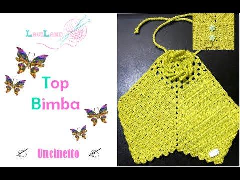 Top Bimba Uncinetto Baby Top Crochet Youtube